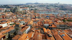Red roofs porto stock image