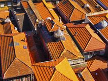 Red Roofs of Porto Royalty Free Stock Images
