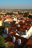 Red roofs of Praga Stock Photo