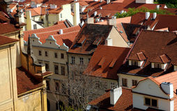 Red roofs of Prague Royalty Free Stock Photos