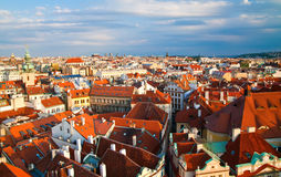 Red Roofs of Prague Stock Image