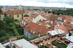 Red roofs of Prague capital of Czech Republic stock photography