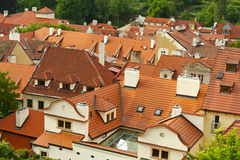 Red roofs of Prague, Czech Republic Stock Photography
