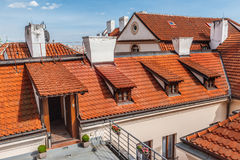 Red roofs in Prague Royalty Free Stock Photo