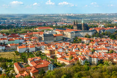 Red roofs in Prague, Czech Republic Royalty Free Stock Photos