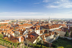 Red roofs in Prague Old Town Square in the Czech Republic Stock Photo