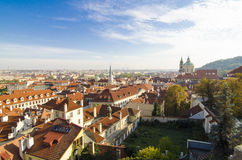 Red roofs in Prague Old Town Square in the Czech Republic Royalty Free Stock Images