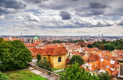 Red roofs, Prague panorama Stock Images