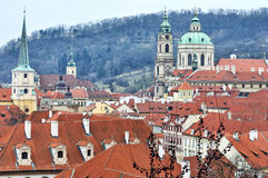 Red Roofs of Prague Royalty Free Stock Photography