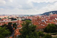 Red roofs of Praha city Stock Image