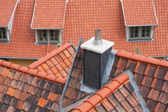 Red roofs of Quedlinburg. Facing at red roofs of Quedlinburg, Germany royalty free stock photos