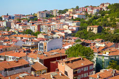 Red roofs of residential houses on the shore of the Bosphorus, I Stock Images
