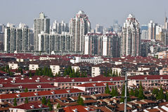 Red roofs of Shanghai Royalty Free Stock Photography