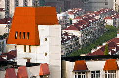 Red roofs of Shanghai Royalty Free Stock Photo