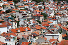 Red roofs of Sibenik Royalty Free Stock Images