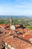 Red roofs of town of La Morra, Italy. Royalty Free Stock Images