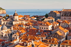 Red Roofs in Unesco Heritage Dubrovnik Stock Photography