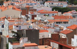 Red roofs and white houses Stock Image