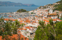 Red roofs and white houses. On the Costa Brava. Spain stock image