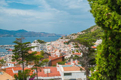 Red roofs and white houses. On the Costa Brava. Spain Royalty Free Stock Photography