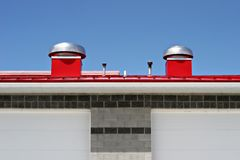 Red rooftop. From a newly constructed fire station Royalty Free Stock Image