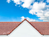 Red roof against blue sky Royalty Free Stock Photography