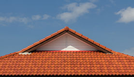 Red rooftop Royalty Free Stock Images