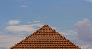 Red rooftop Stock Image