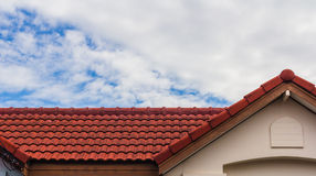Red rooftop Royalty Free Stock Photography