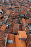 Red rooftops. Of old houses in the city of Braga, Portugal Royalty Free Stock Photo