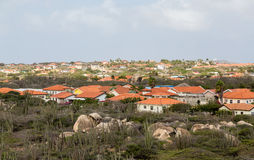 Red Rooftops on Aruba Houses Royalty Free Stock Photography