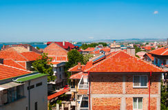 Red rooftops. Bulgaria Royalty Free Stock Images