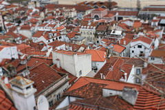 Red rooftops  of Lisbon, Portugal buildings Stock Photos