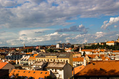 Red rooftops of Prague Stock Photo