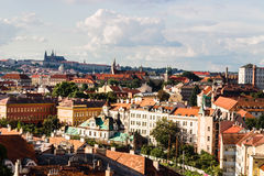 Red rooftops of Prague Stock Images