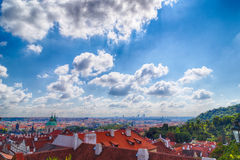 Red rooftops of Prague Royalty Free Stock Images