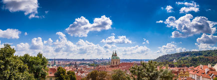 Red rooftops of Prague Royalty Free Stock Photography