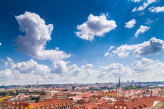 Red rooftops of Prague Royalty Free Stock Image