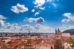 Red rooftops of Prague Stock Image