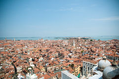 Red rooftops in Venice, view from San Marco tower Stock Photos