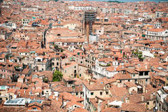 Red rooftops in Venice, view from San Marco tower Royalty Free Stock Image