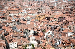 Red rooftops in Venice, view from San Marco tower Stock Photo
