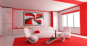 Red Room (back) Stock Photography