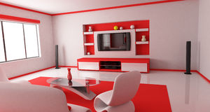 Red Room (back) Royalty Free Stock Photo