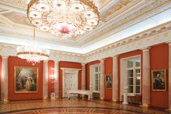 Red room of historical and architectural museum Royalty Free Stock Photos