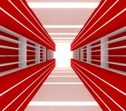 Red room with shelf Royalty Free Stock Images