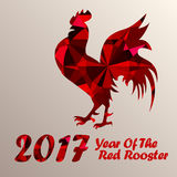 Red Rooster As Symbol Of 2017 Stock Photo