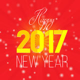 Red rooster 2017 Chinese horoscope. Creative card new year red rooster 2017 Chinese horoscope. Congratulations calligraphy and lettering Stock Photos