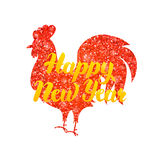 Red Rooster Chinese New Year Royalty Free Stock Photo