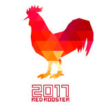 Red Rooster 2017 . Rooster, cock, Chinese zodiac illustration. Logo, emblem, symbol designs bundle Rooster zodiac emblem Royalty Free Stock Photo